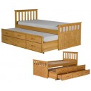 SOLID PINE SLEEPOVER BED