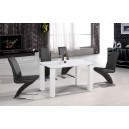 PRAGUE HIGH GLOSS DINING TABLE + 4 CHAIRS