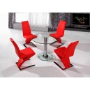 ALONZA ROUND DINING SET + 4 CHAIRS