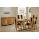 ZEUS OVAL SOLID OAK DINING TABLE + 6 CHAIRS