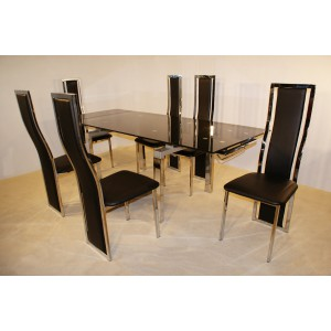 HIGHGROVE EXTENDING DINING TABLE + 6 CHAIRS