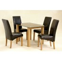 ADINA (SMALL) BLACK GLASS DINING TABLE + 4 CHAIRS