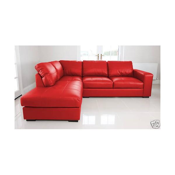 Argos Red Leather Corner Sofa. Brand New Red Leather Corner Sofa ...