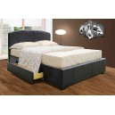 2 DRAWER LEATHER BED